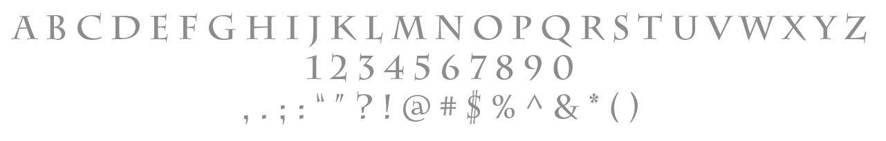 Primary Typeface /Charlemagne STD Bold