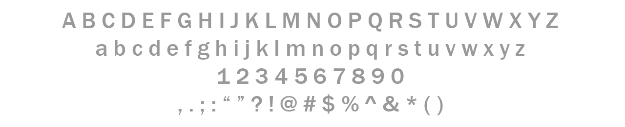 Secondary Typeface / Franklin Gothic Bold