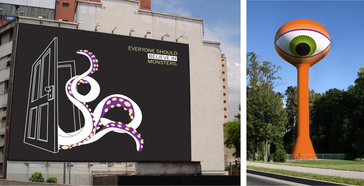 MonstroCity Billboard + Water Tower