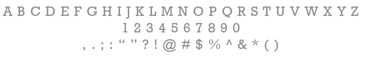 Primary Typeface /Rockwell