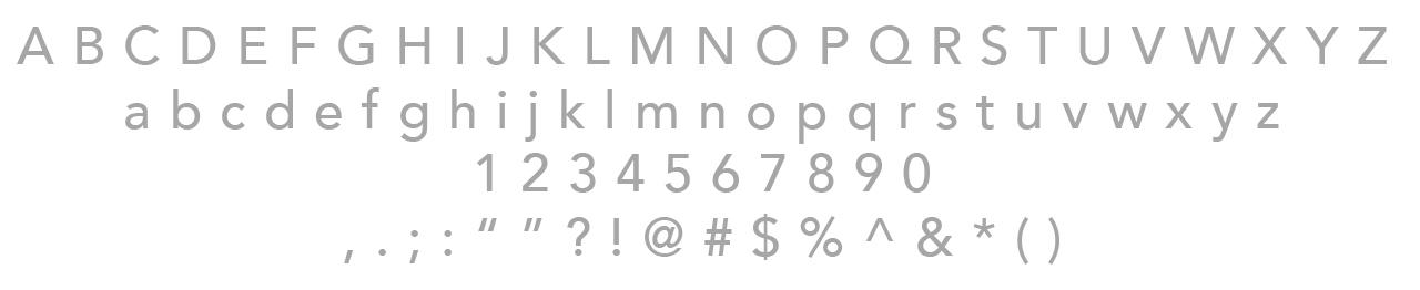 Secondary Typeface / Avenir