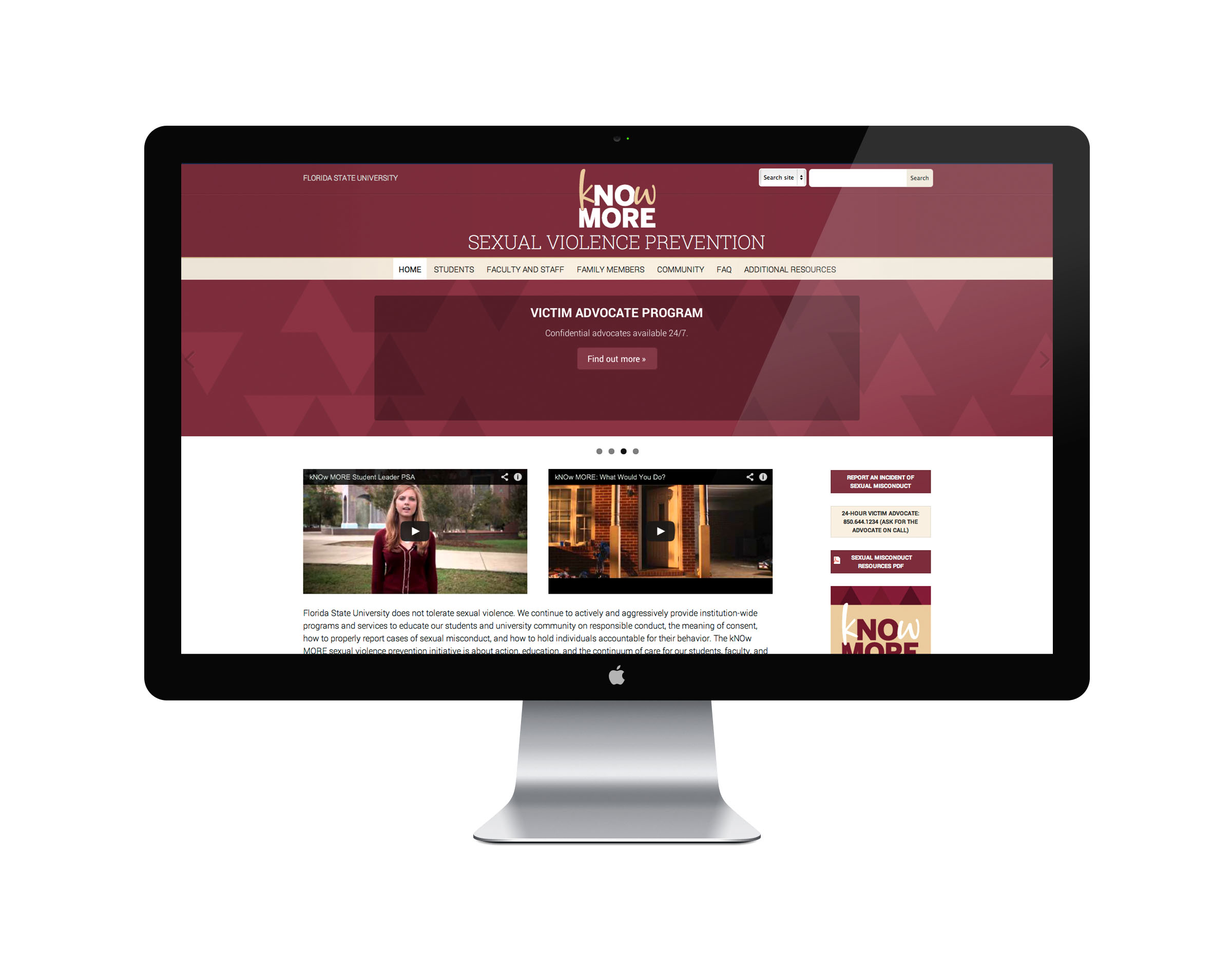 FSU Sexual Violence Prevention Website