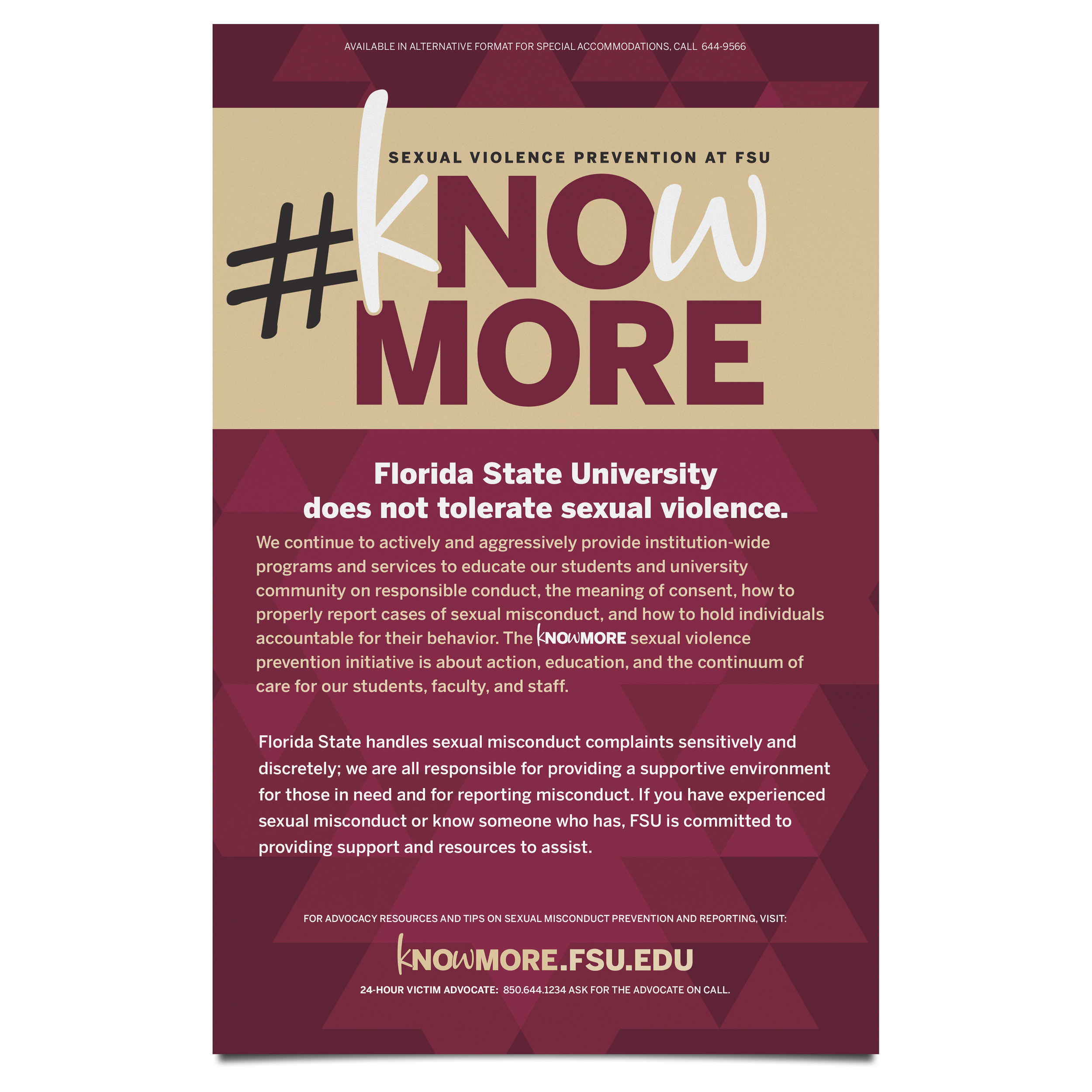FSU Sexual Violence Prevention Poster