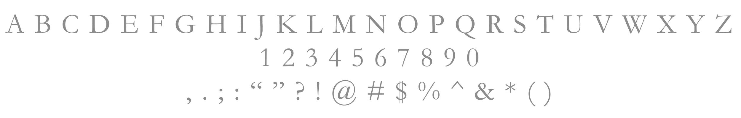 Primary Typeface / Adobe Garamond Pro