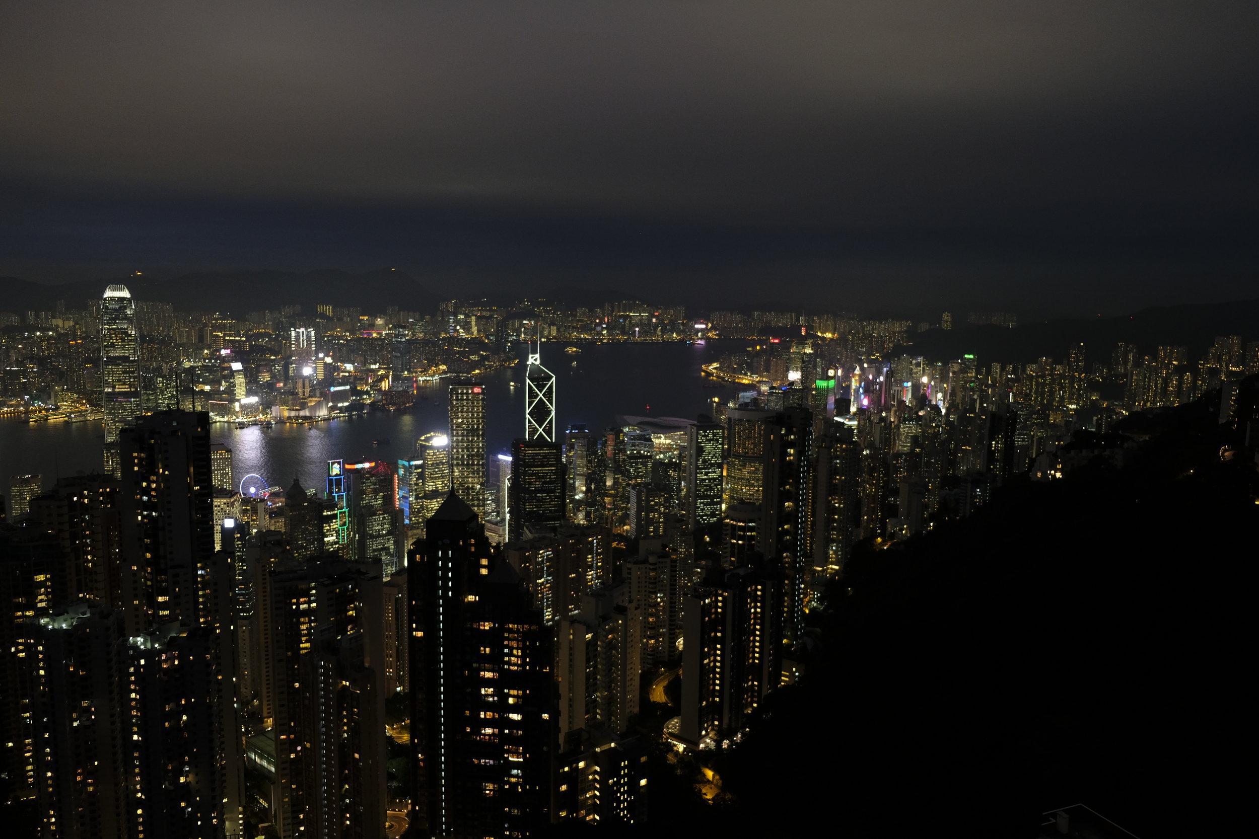 Blick vom Peak Richtung Osten