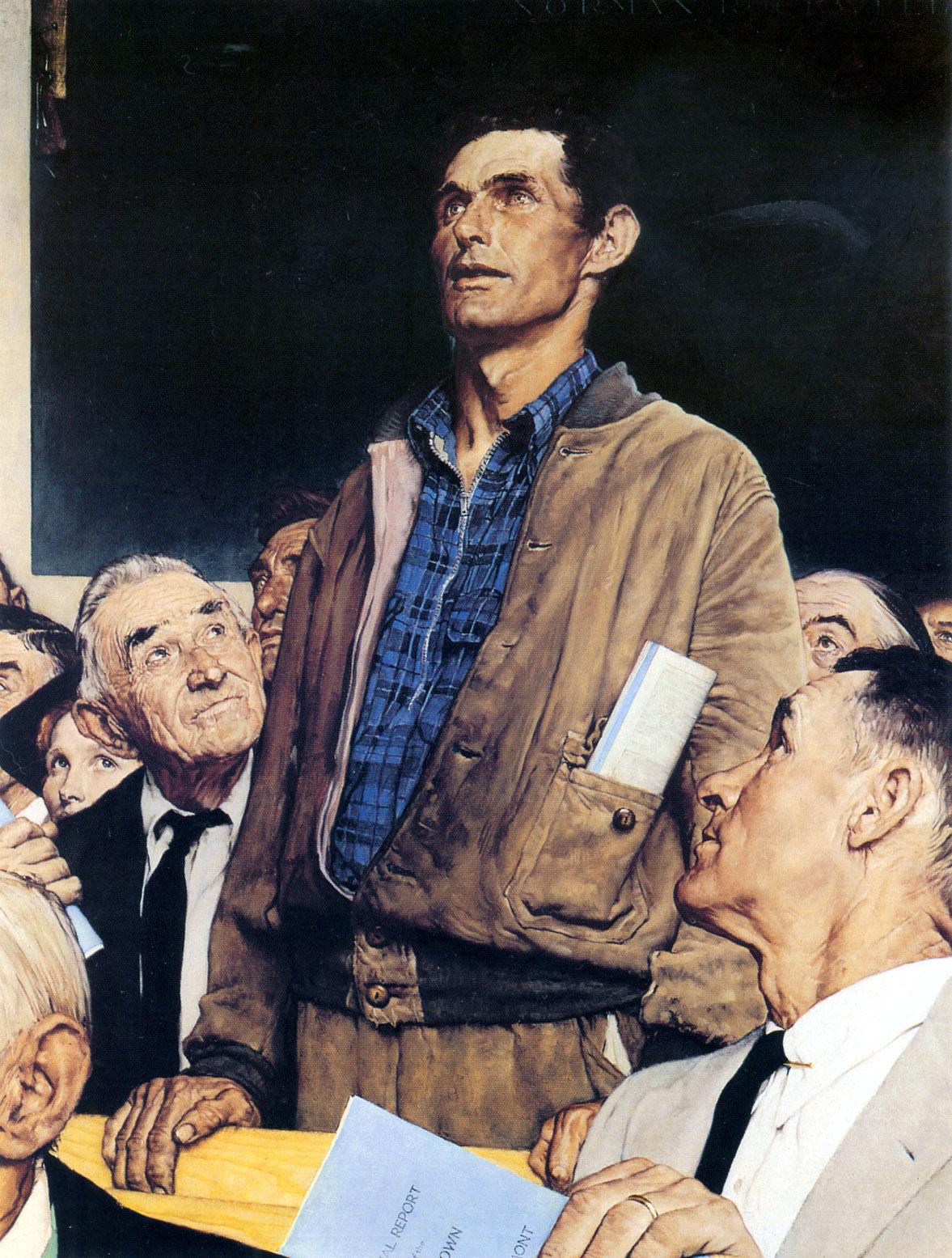 Norman Rockwell: Freedom of Speech (1943)