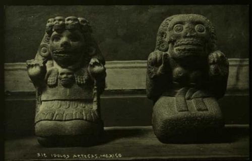 Mictecacihuatl & Mictlantecuhtli. The goddess and god of Mitlan    Credit: AtlasObscura.com