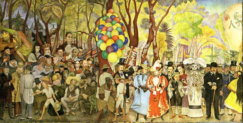 """Credits: Medium.com """"Sueño de una tarde dominical en la Alameda Central"""" by Diego Rivera"""