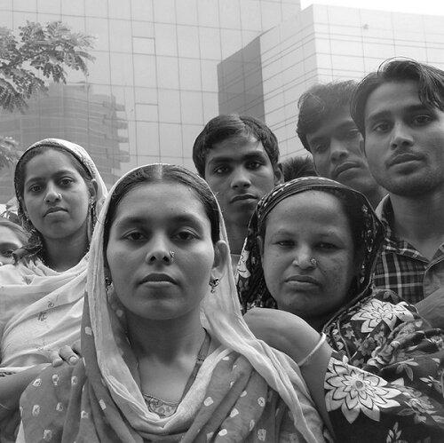 Striking garment workers in Bangladesh ©TansyHoskins