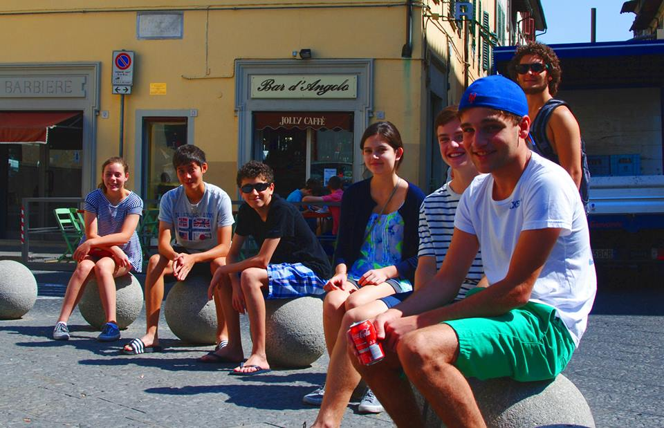 Calder Classics students studying abroad in Florence, Italy.