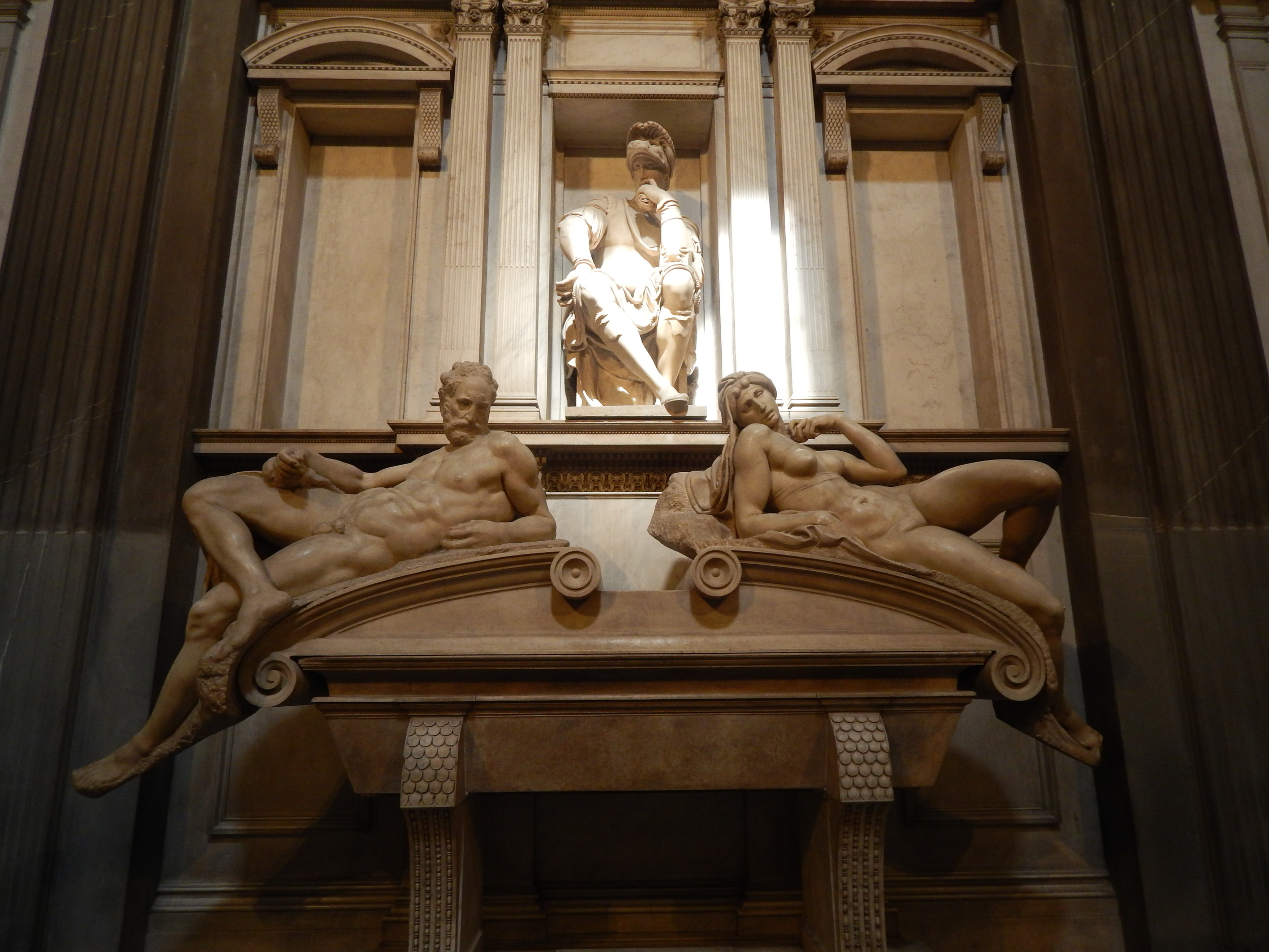 Tomb artistry by Michelangelo for Lorenzo the Magnificent di Medici