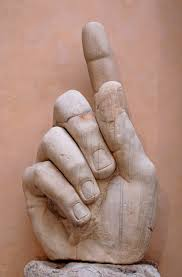 Image fromhttp://en.wikipedia.org/wiki/Colossus_of_Constantine#mediaviewer/File:Hand_Constantine_Musei_Capitolini_MC786.jpg