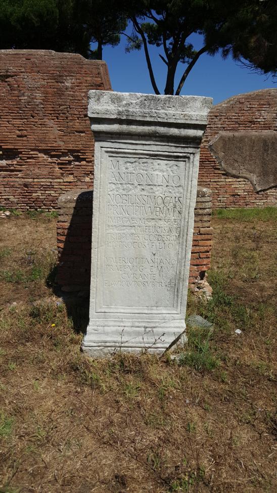 The damnatio memoria of Emperor Commodus.