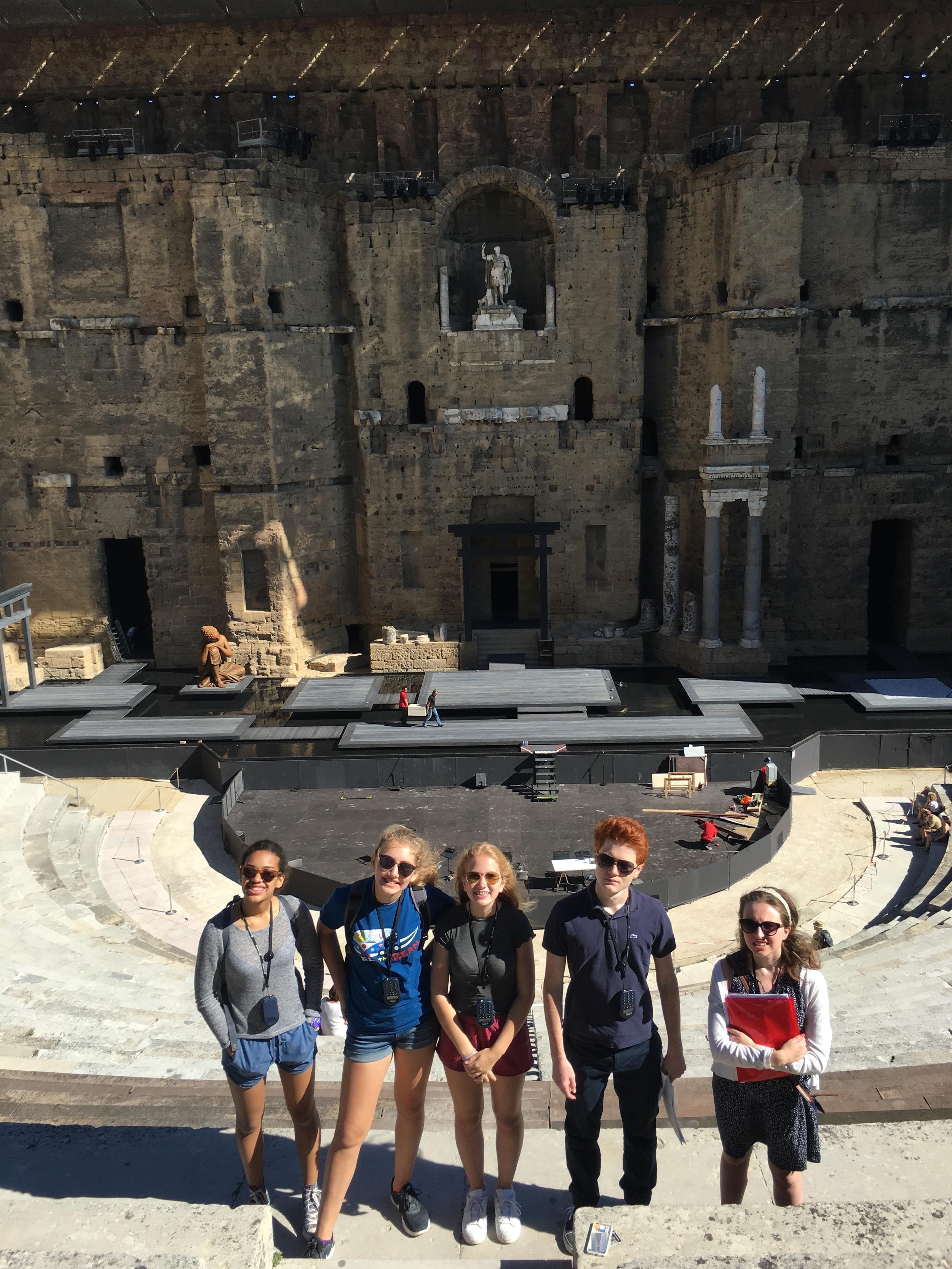At the Roman theater in Orange.