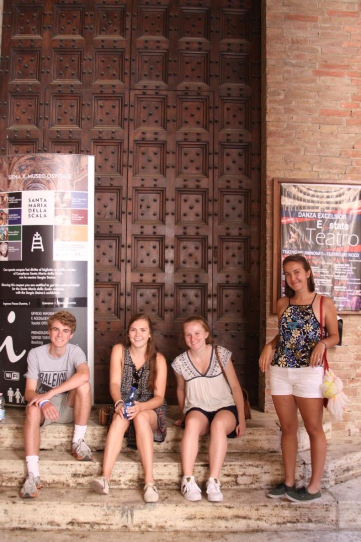 Taking a break on our day trip to Siena