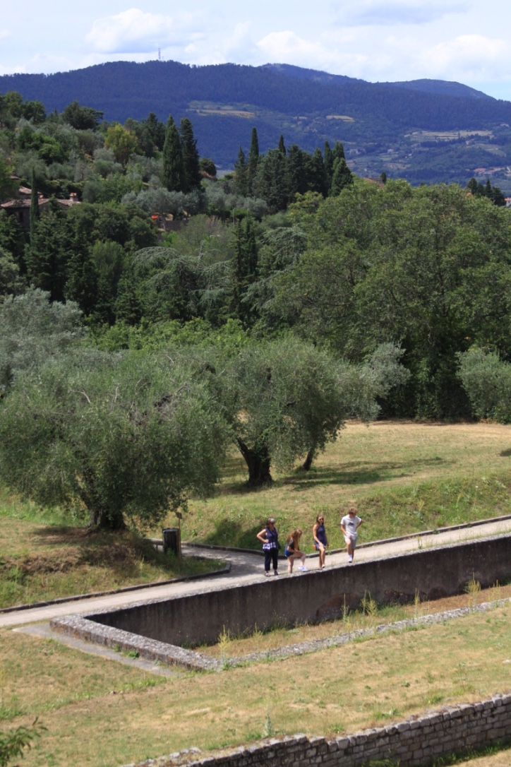 Exploring the ruins in Fiesole
