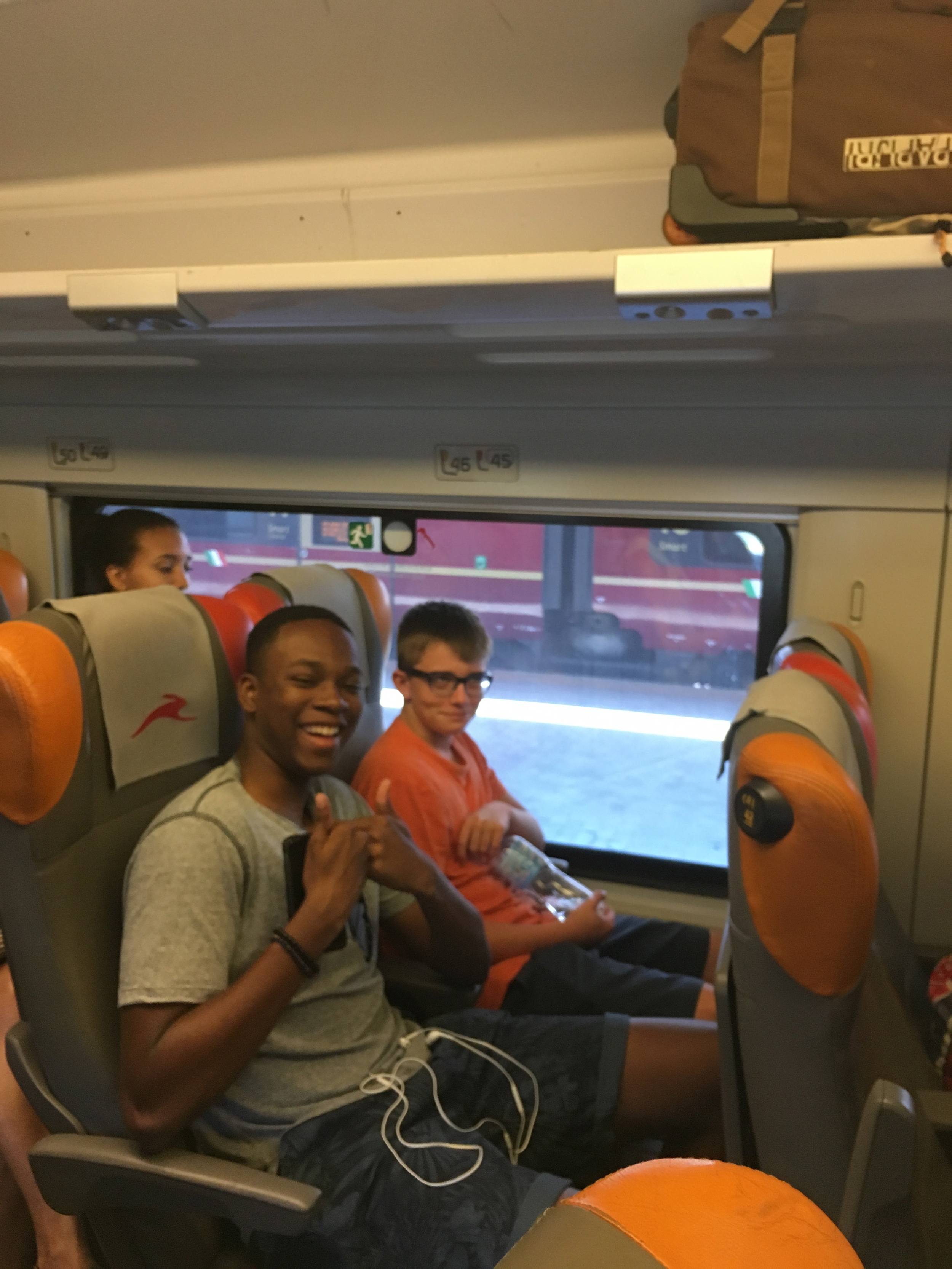 Isaiah and Henry brave the early(ish) train to Rome
