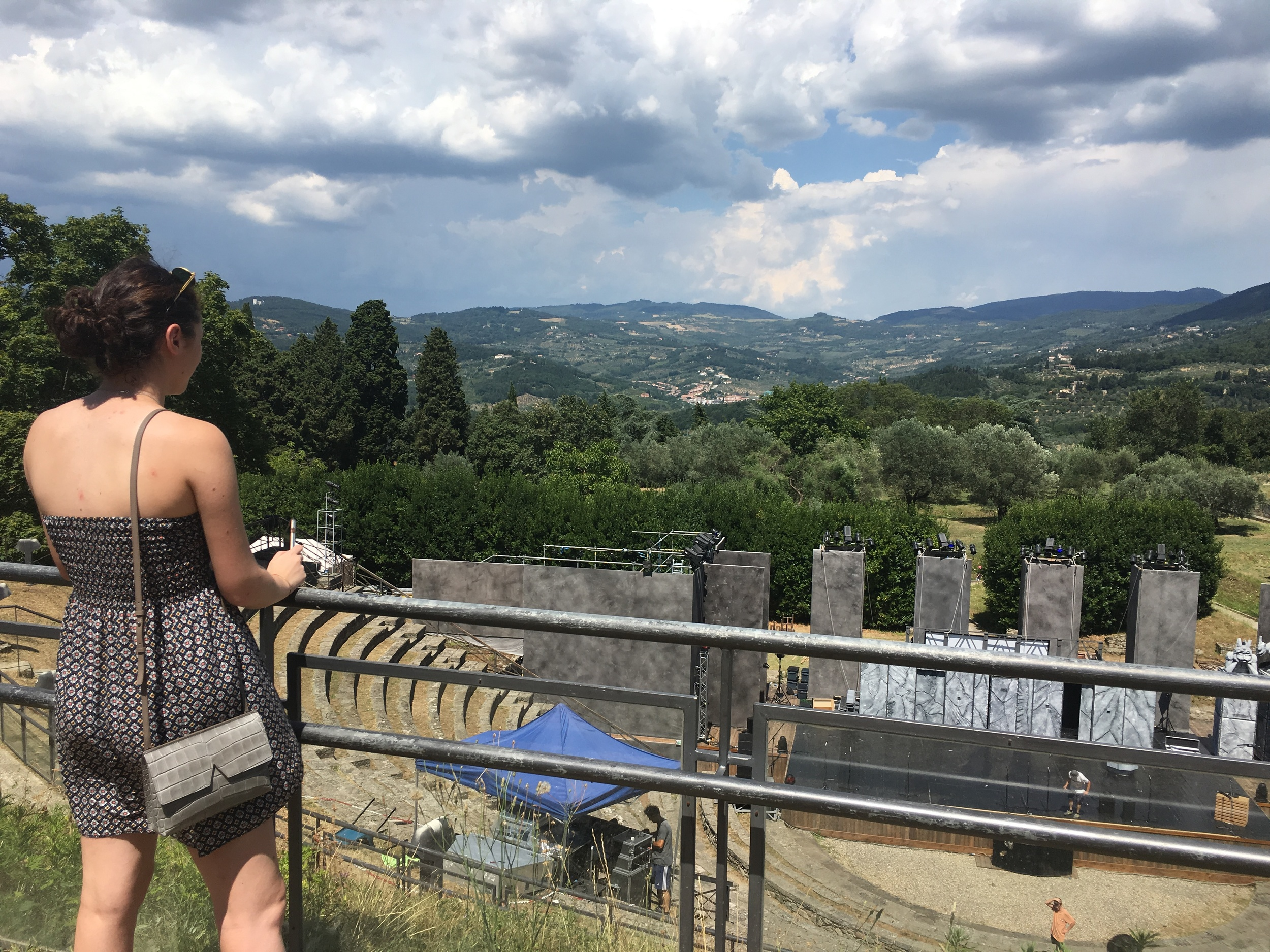 Margot and the Roman theater at Fiesole