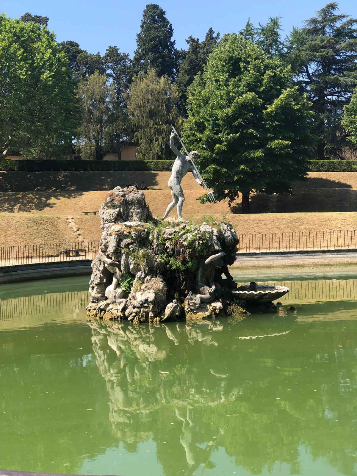 Neptune in the Boboli Gardens