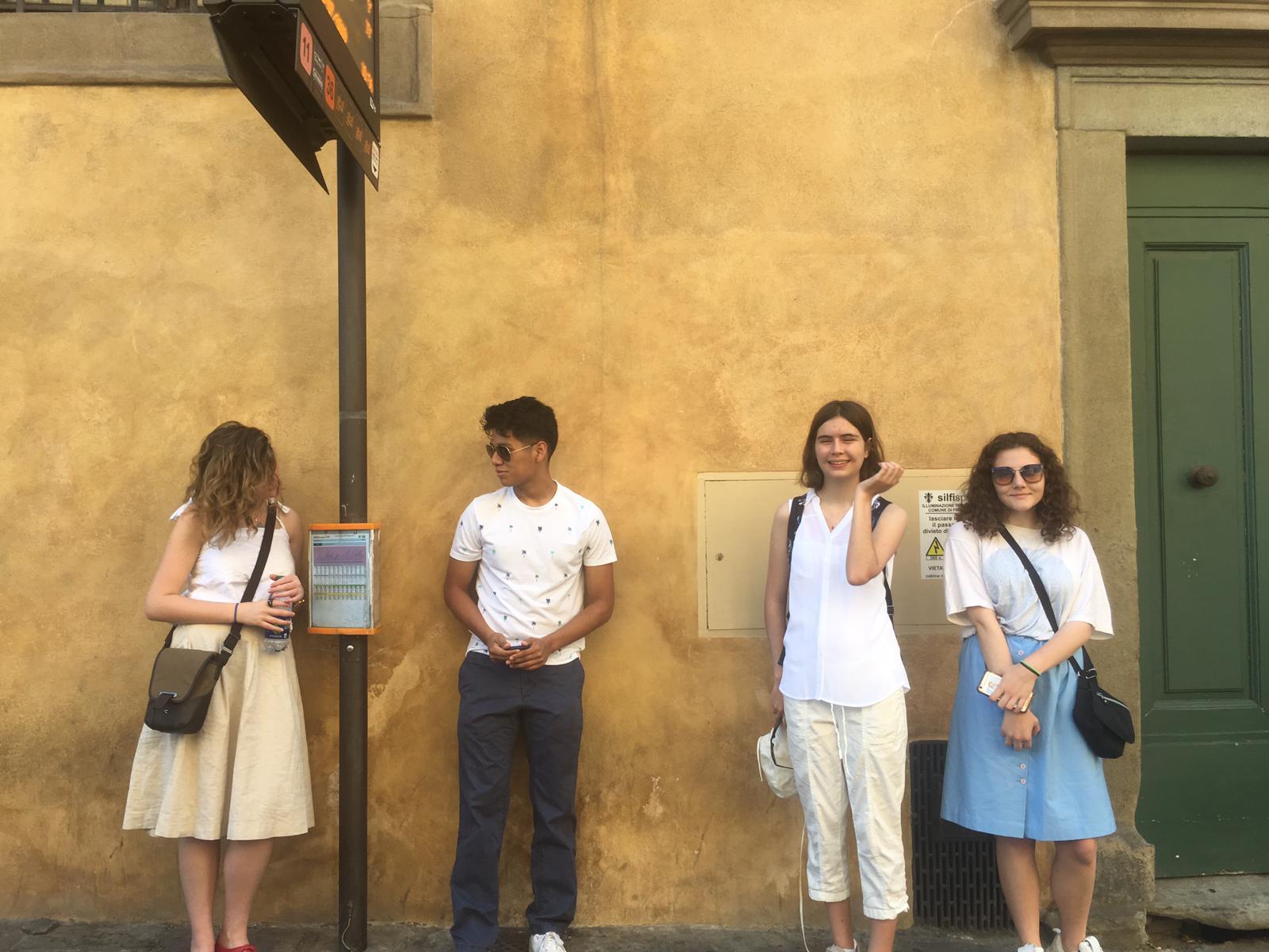 The Creative Writing Crew: Edie Lipsey, Nicholas Perez, Anna Westwig, and Johanna Von Maack