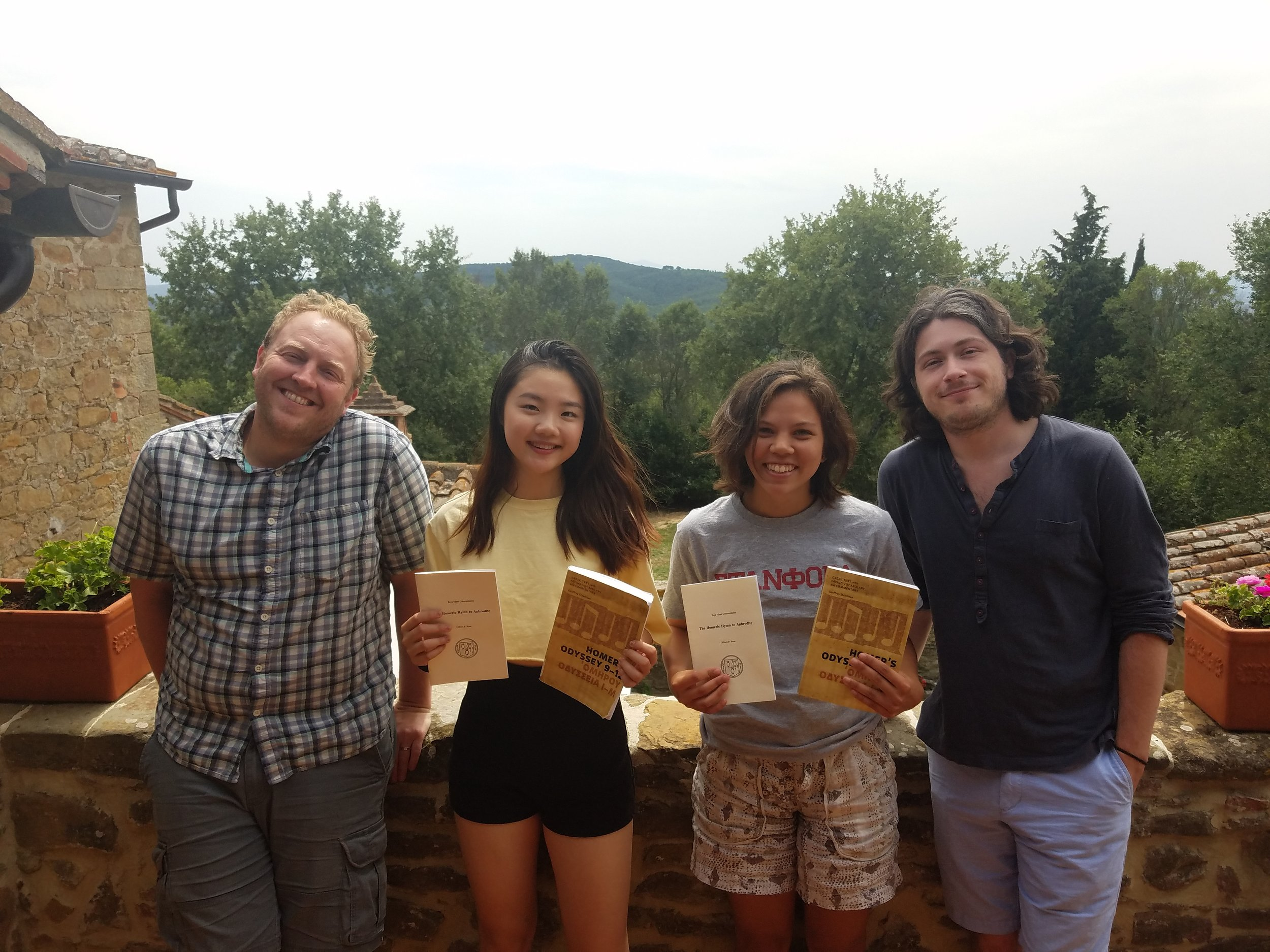 Greek Crew: Jeff Ulrich (our wonderful instructor), Lindsey Chan, Aulden Foltz, and Eric Silver