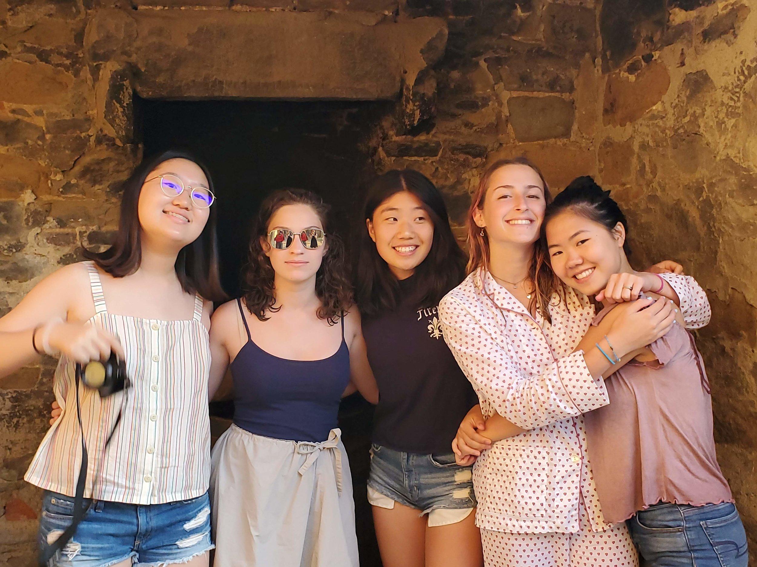 Latin students at villa.jpg