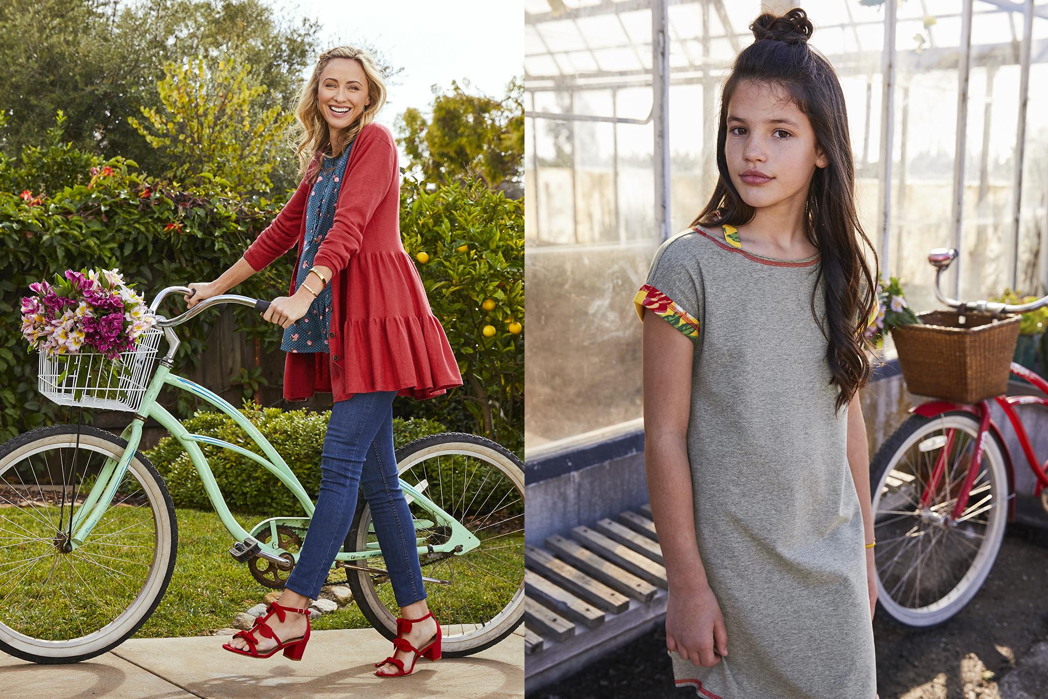 Red Coat Bike and Girl Grey.jpg