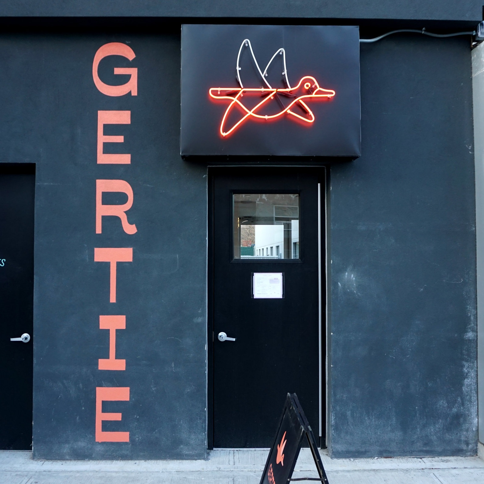 Gertie   Sign Design, Sign Fabrication, Handpainting, Neon, Large Format Painting