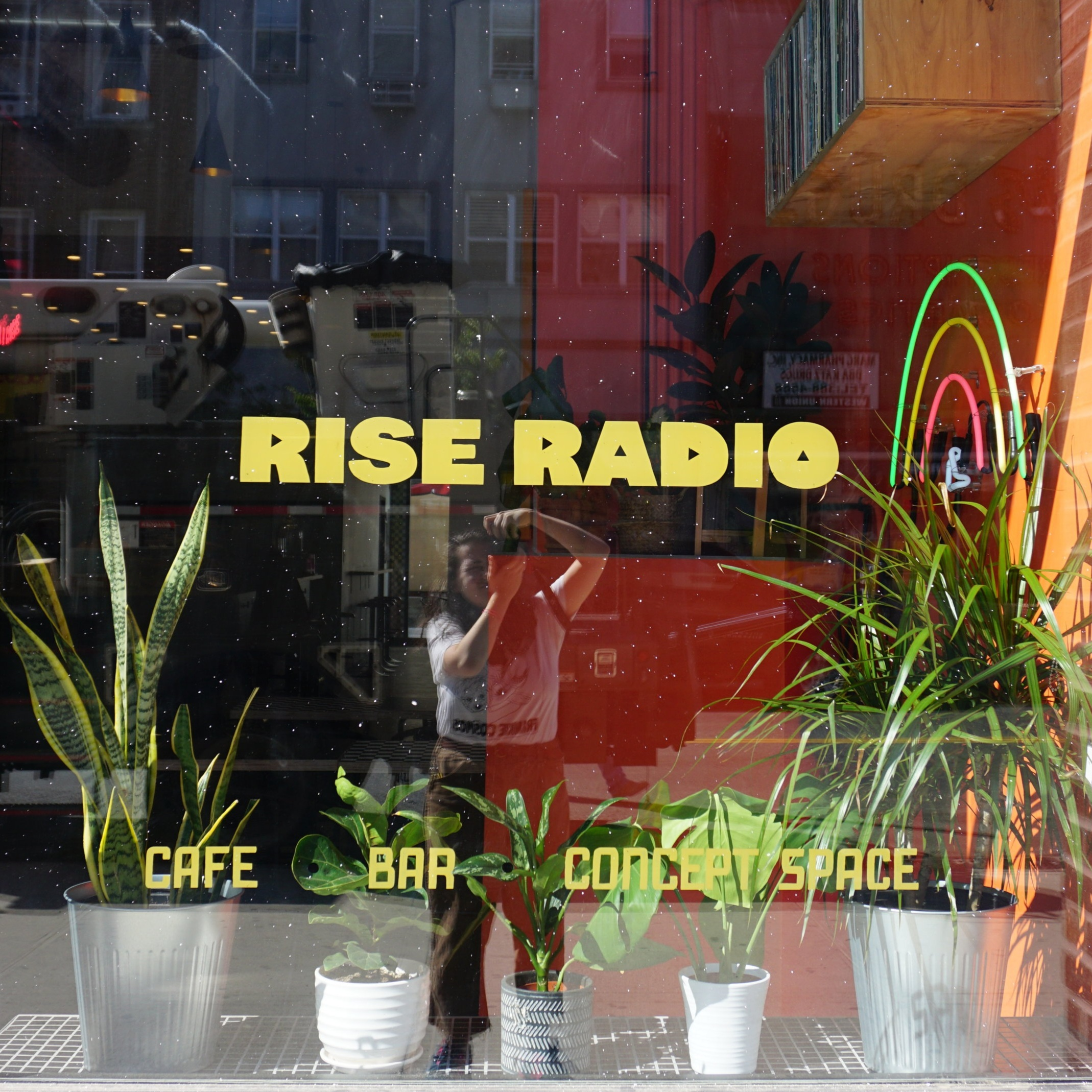 Rise Radio   Handpainting, Sign Design, Fabrication, Neon