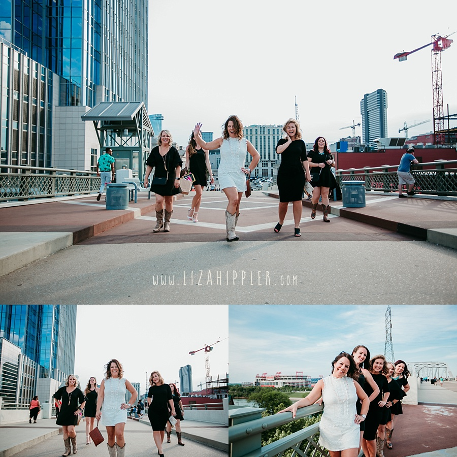 downtown nashville pedestrian bridge bachelorette party