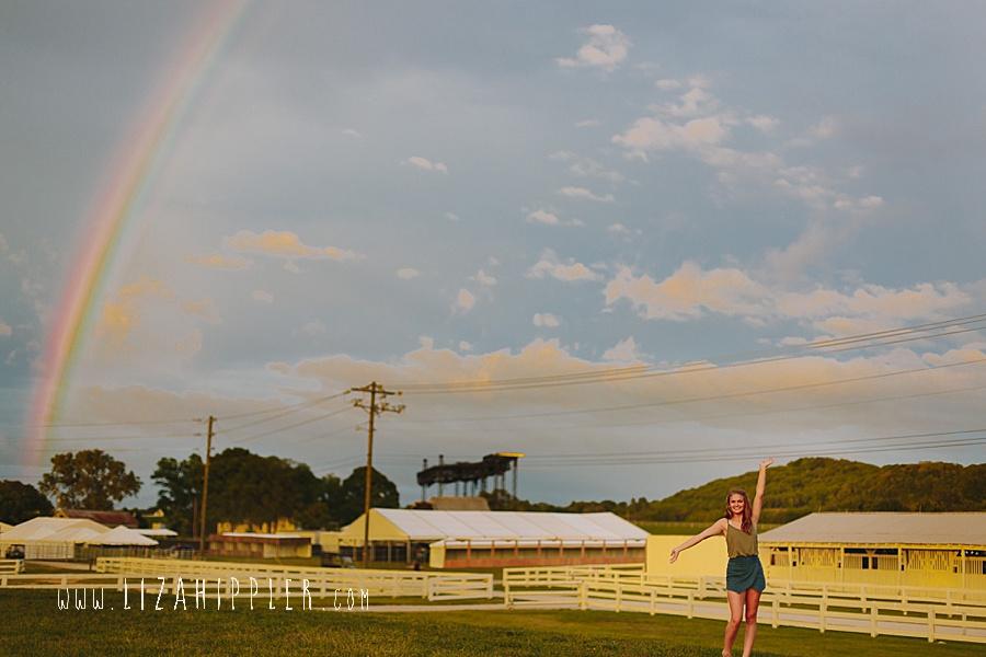rainbow in senior photo shoot franklin tn