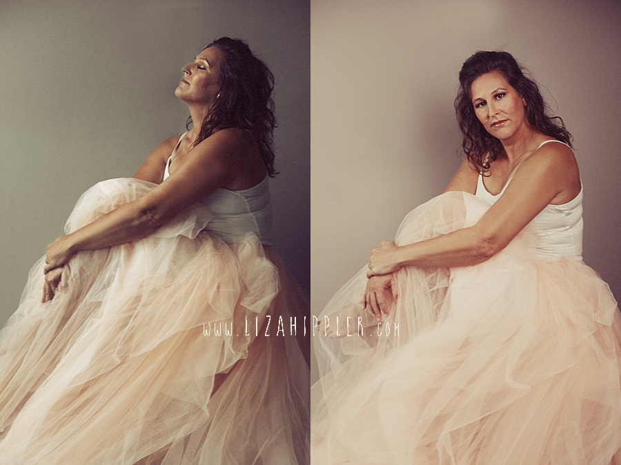 artistic portraits of woman in tulle skirt