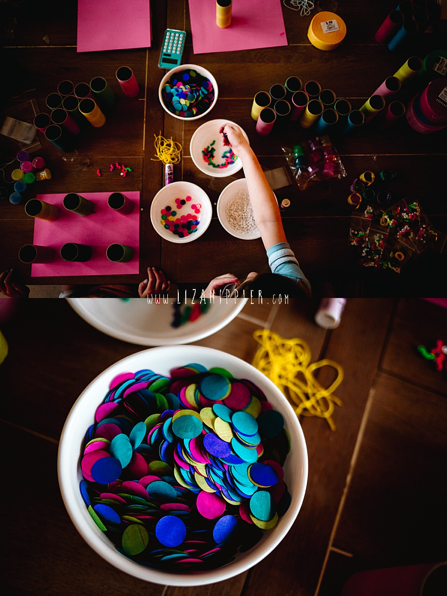 third grade girls crafting