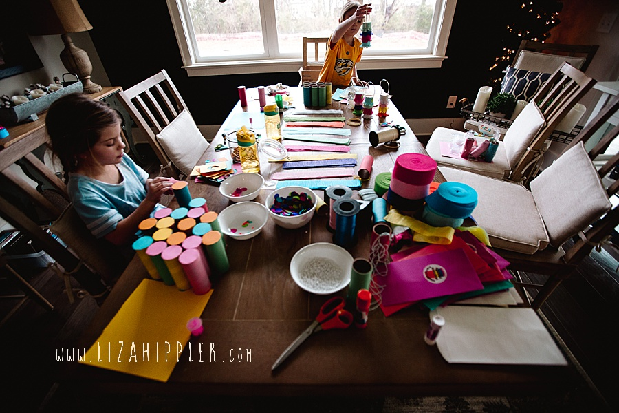lots of crafts on table