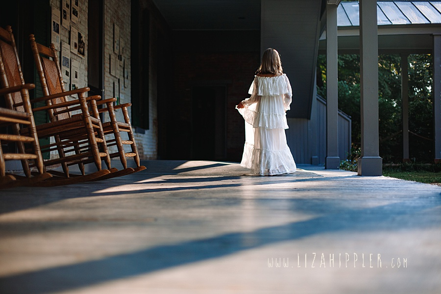 silhouette shot of girl walking in white dress