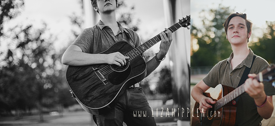 senior boy photos with guitar