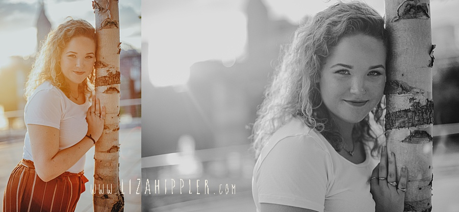 nashville tn senior shoot with curly haired girl