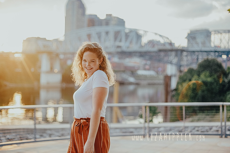 cumberland park photoshoot high school senior at sunset