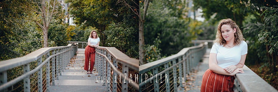 high school senior girl poses for photos in nashville