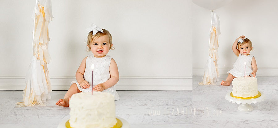 first birthday photoshoot with neural colors