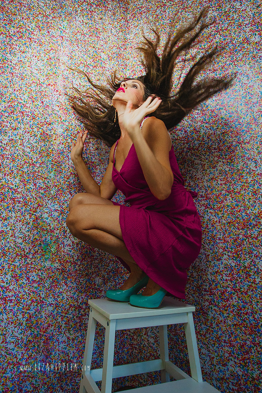 creative and colorful self portrait