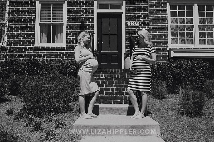 maternity photoshoot black and white