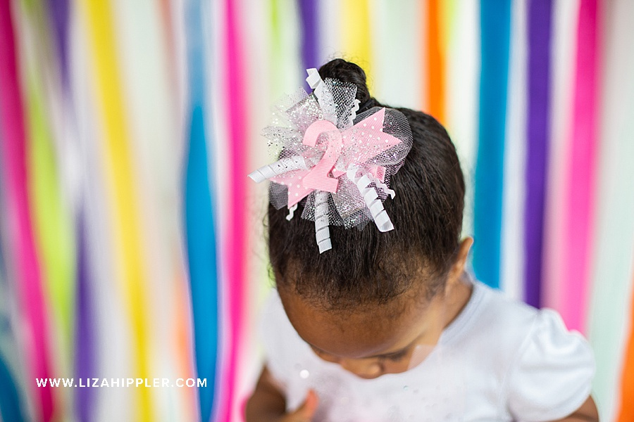 hair bow for 2nd birthday photos