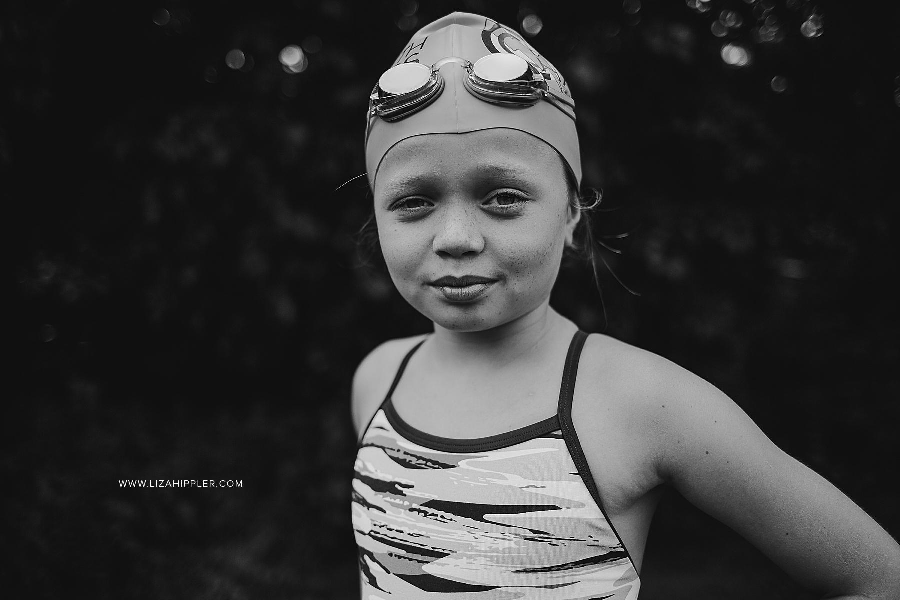 girl in swim cap