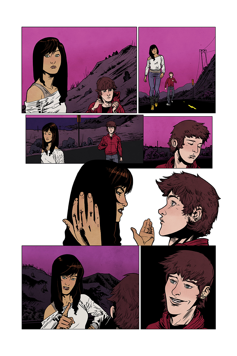 WE CAN NEVER GO HOME #1, illustrated by  Josh Hood  and written by Matthew Rosenberg, colors by me.