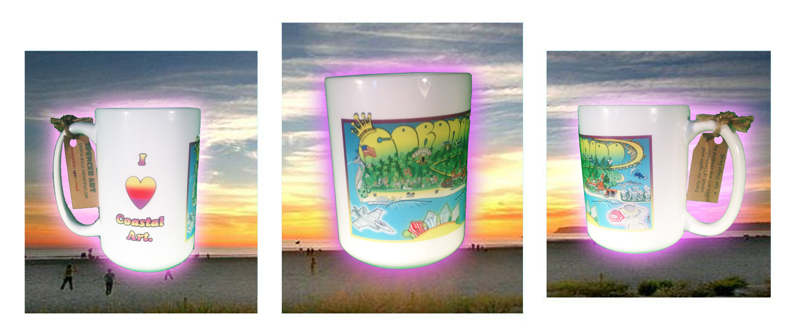The Coronado Coastal Art Cup- click here to order.