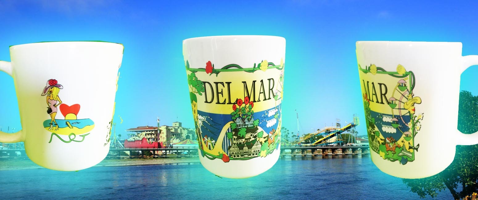 The Del Mar Coast Art Mug-  click here to order.