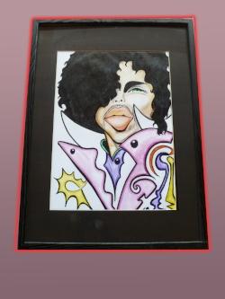 Prince. Framed, matted. Original. $500.
