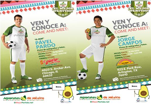 Avocados from Mexico, Jorge Campos & Pavel Pardo