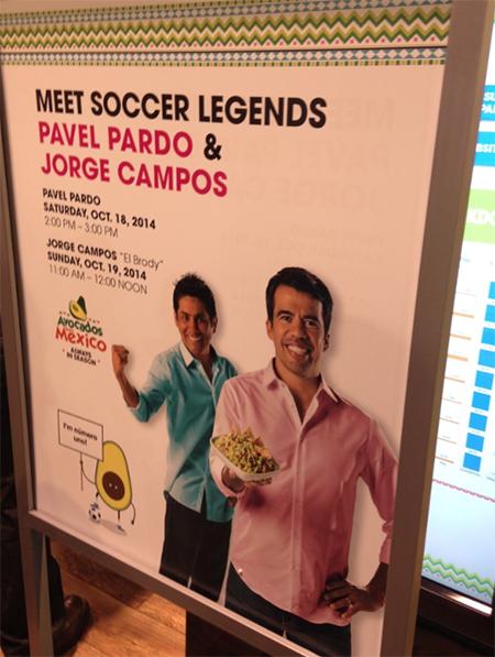 Avocados from Mexico PMA trade convention, Jorge Campos & Pavel Pardo